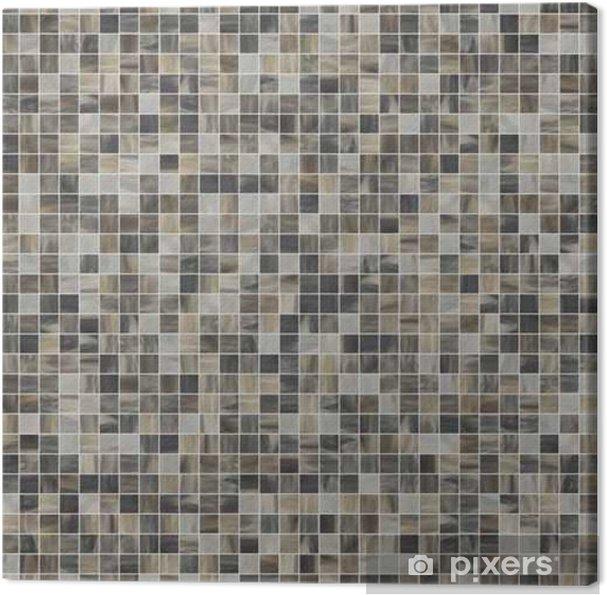Obraz na plátně Velký čtverec bezešvé textury mozaikové dlažby 07 - Grafika