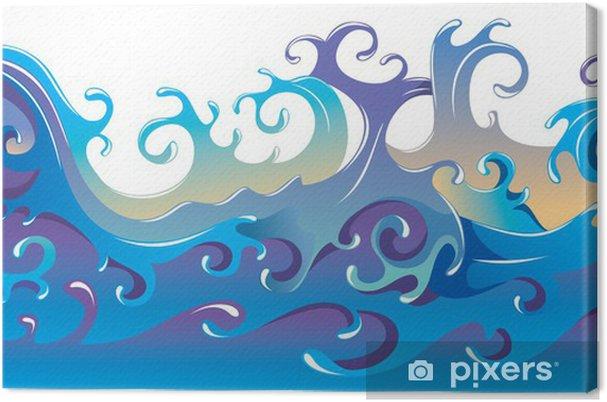 Obraz Na Platne Virici Morske Vlny Kreslene Vektorove Ilustrace