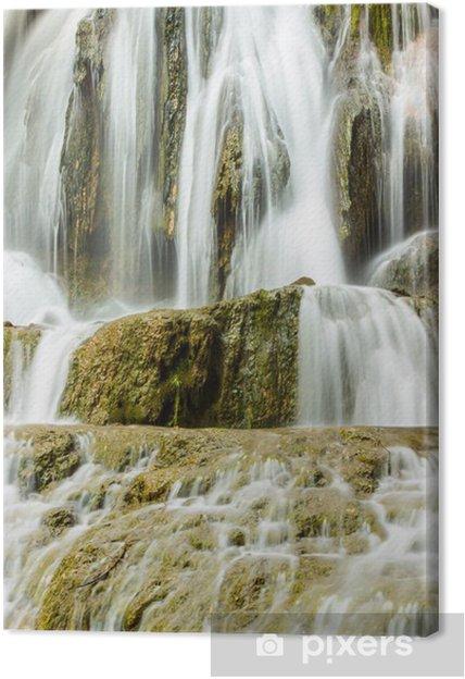 Obraz na plátně Vodopád na Slovensku detailně - Voda