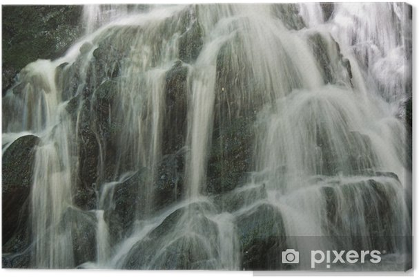Obraz na plátně Vodopád zblízka. - Přírodní krásy