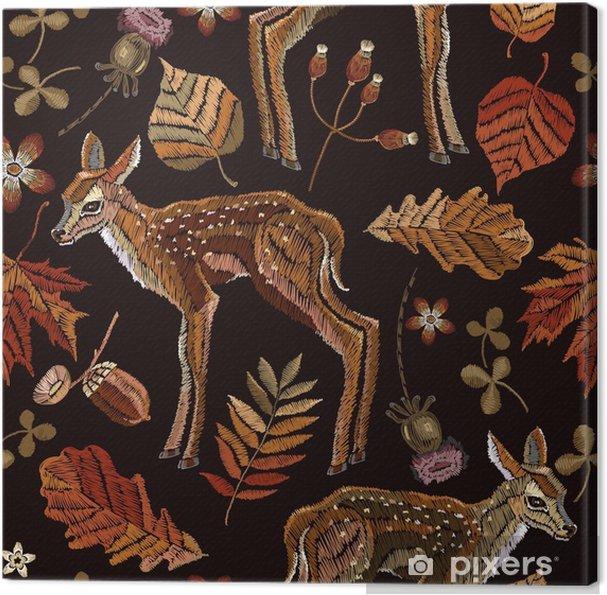 Obraz na plátně Vyšívací jelen be279b65c8