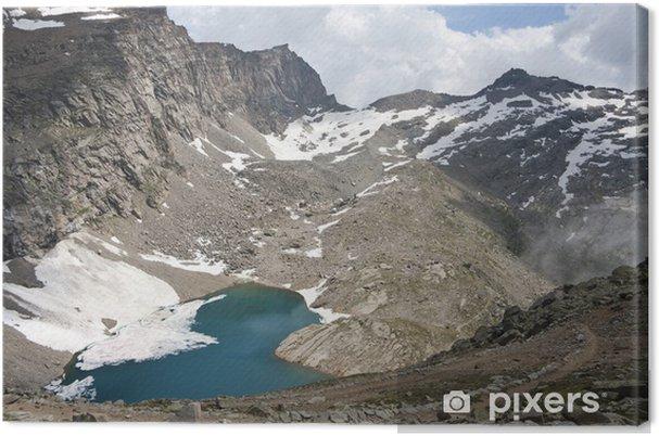Obraz na plátně Vysokohorské jezero v Gran Paradiso Park - Hory