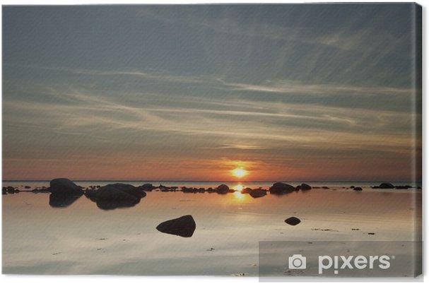 Obraz na plátně Západ slunce nad oceánem. photo Široký úhel. - Voda