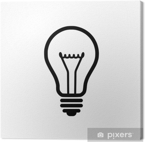 Obraz na plátně Žárovka ikona - Prvky podnikání