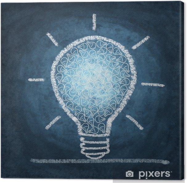 Obraz Na Platne Zarovka Kresba Kridou Pixers Zijeme Pro Zmenu