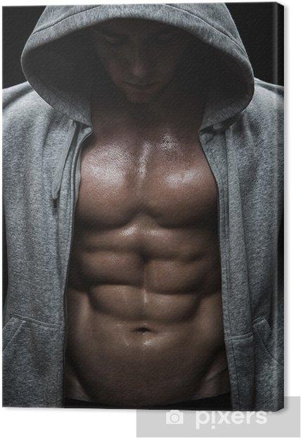 Obraz na plátně Zblízka svalové sportovní člověka po tréninku váhy - Osud