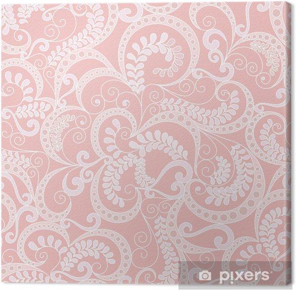 Obraz na plátně Zdobené bezproblémové vzor na růžovém pozadí - Pozadí