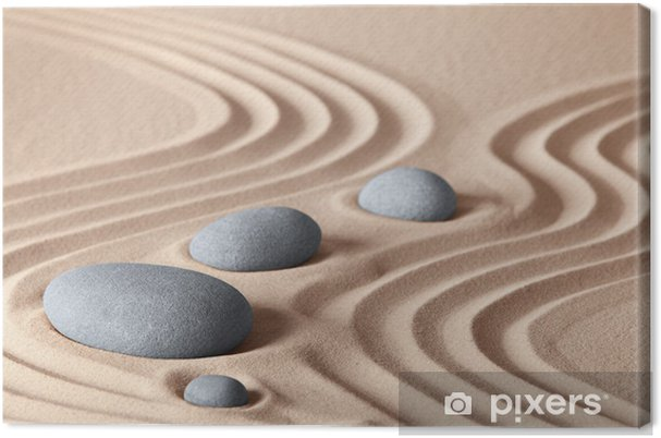 Obraz na plátně Zen Garden kameny - Styly