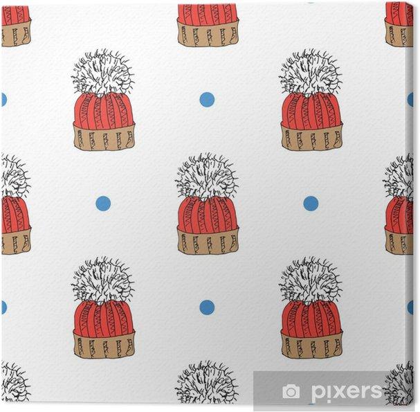 Obraz Na Platne Zimni Sezona Doodle Obleceni Bezesve Vzor Rucne