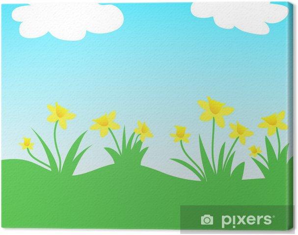 Obraz na plátně Žluté narcisy - Roční období