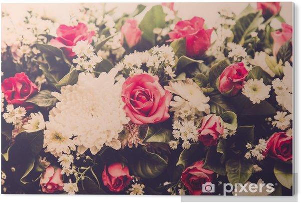 Obraz na Pleksi Bukiet róż ślubne kwiat. Filtr Retro - Rośliny i kwiaty