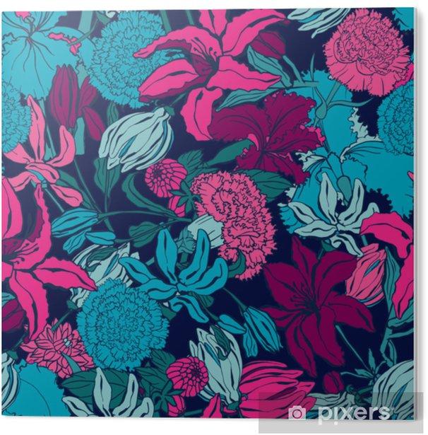 Obraz na Pleksi Wzór z lilii, ylang, róże, kwiaty goździka. kolorowa wektorowa ilustracja. drukuj na tekstylia domowe i odzież, tkaniny, tekstylia - Zasoby graficzne