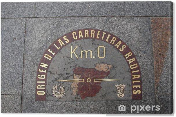 Obraz na płótnie 0 km, pochodzenie hiszpańskich dróg poprzecznych, madrid - Znaki i symbole