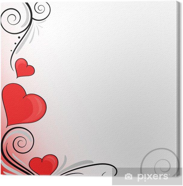 Obraz na płótnie 3 serca dekoracji - Święta międzynarodowe