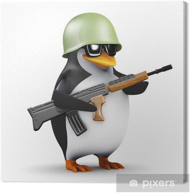 Obraz na płótnie 3d Penguin żołnierz - Zbrodnie i przemoc
