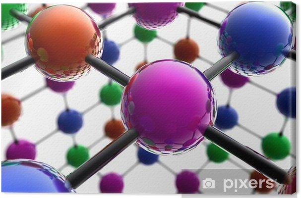 Obraz na płótnie 3d struktura atomu - Koncepcje biznesowe