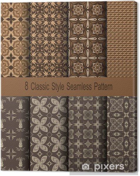 Obraz na płótnie 8 Classic Style Seamless Pattern - Sztuka i twórczość