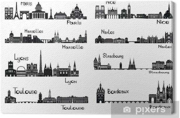 Obraz na płótnie 8 miast z Francji - Europa