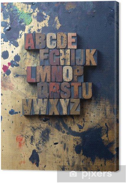Obraz na płótnie Abcd - Znaki i symbole