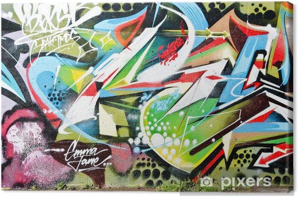 Obraz na płótnie Abstract graffiti, szczegóły na ścianie teksturowane - Tematy