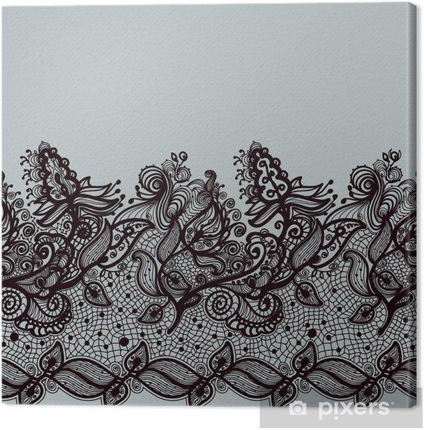 Obraz na płótnie Abstract Ribbon Lace szwu. - Tła