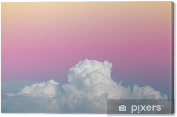 Obraz na płótnie Abstract soft niebo chmury z gradientu kolorów pastelowych rocznika tło dla wykorzystania w tle - Zasoby graficzne