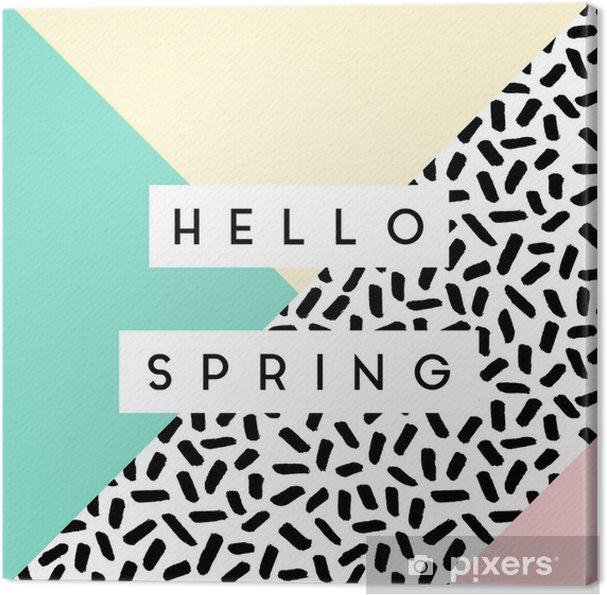 Obraz na płótnie Abstract Spring Design - Abstrakcja