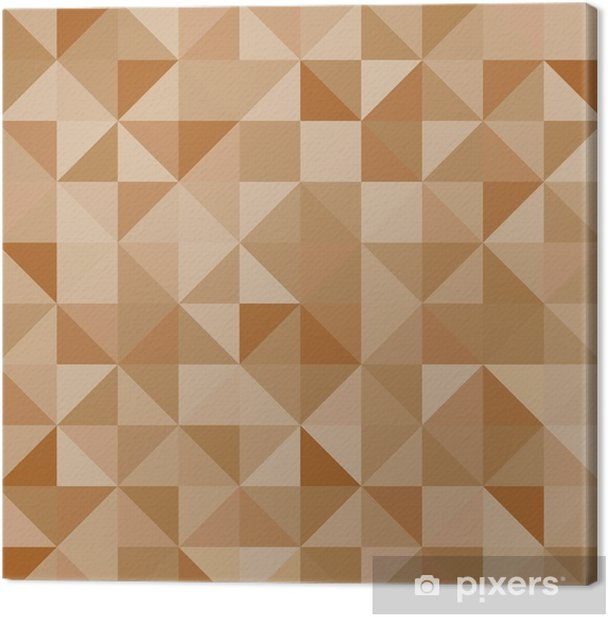 Obraz na płótnie Abstrakcjonistyczna tła brązu trójboków ilustracja - Zasoby graficzne