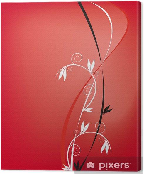 Obraz na płótnie Abstrakcyjna czerwonym tle z wzorca - Tła