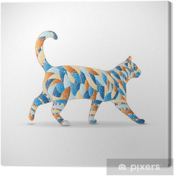 Obraz na płótnie Abstrakcyjna kolorowe cat. Ilustracja 10 wersji. - Sztuka i twórczość