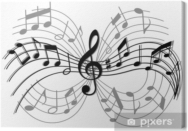 Obraz na płótnie Abstrakcyjna kompozycja muzyczna - Rozrywka