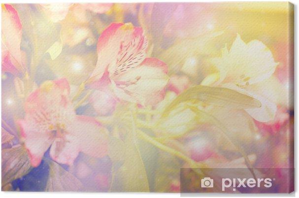 Obraz na płótnie Abstrakcyjna kwiat. kwiaty wykonane z kolorowych filtrów - Style