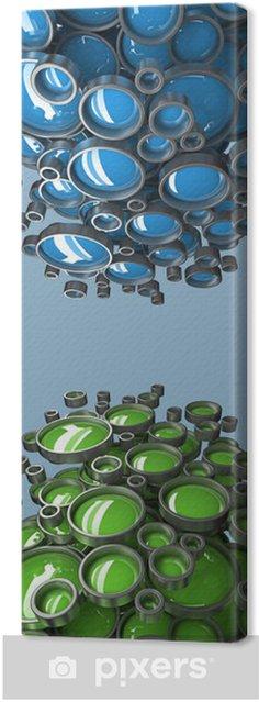 Obraz na płótnie Abstrakcyjna tła 3D dla prezentacji firmy - Sukces i osiągnięcia