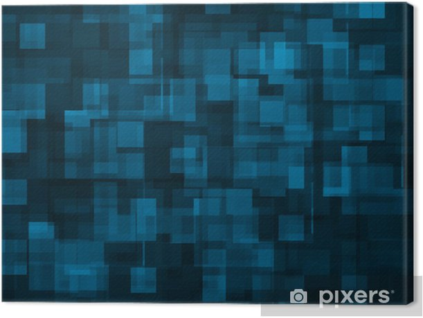 Obraz na płótnie Abstrakcyjna tła - niebieski kwadrat - Tła