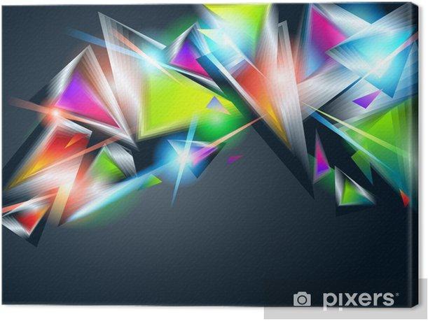 Obraz na płótnie Abstrakcyjna tła z kolorowych świecących trójkątów. Vector illu - Tła