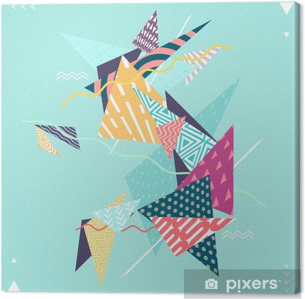 Obraz na płótnie Abstrakcyjne dekoracyjne kompozycje geometryczne - Zasoby graficzne