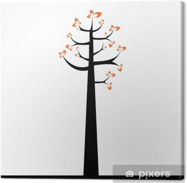 Obraz na płótnie Abstrakcyjne drzewo - Drzewa