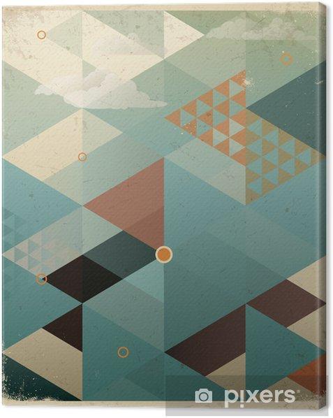 Obraz na płótnie Abstrakcyjne geometryczne tle retro z chmur -
