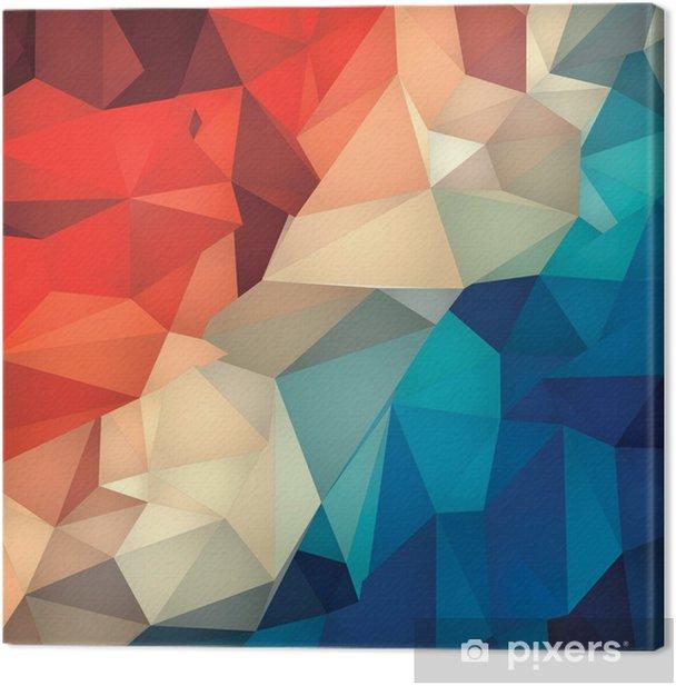 Obraz na płótnie Abstrakcyjne geometryczne tło low poly. - Tła