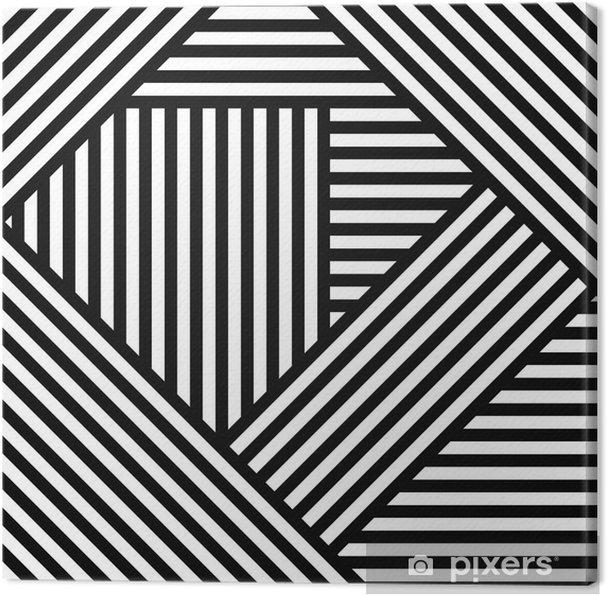 Obraz na płótnie Abstrakcyjne geometryczne tło proste paski - Sztuka i twórczość
