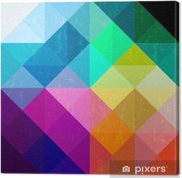 Obraz na płótnie Abstrakcyjne geometryczne tło wzór z trójkątów / kwadratami - Tematy