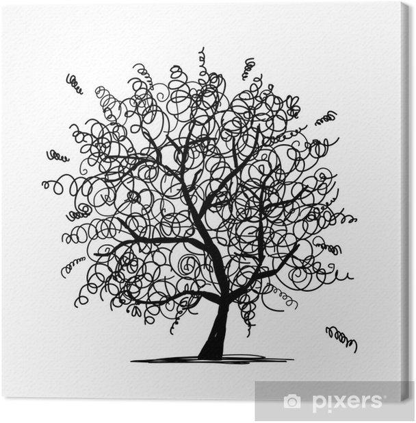 Obraz na płótnie Abstrakcyjne kędzierzawe drzewa dla projektu - Drzewa