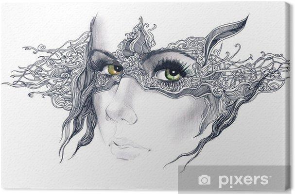 Obraz na płótnie Abstrakcyjne ozdobione twarz kobiety - Style