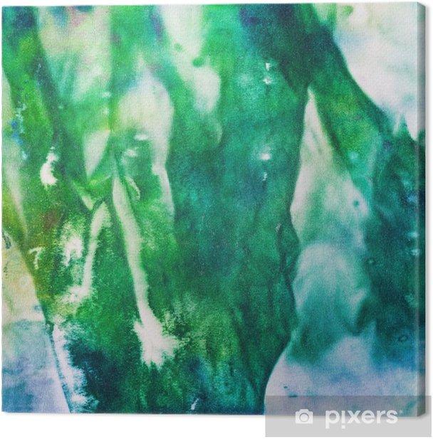 Obraz na płótnie Abstrakcyjne ręcznie malowane zielonym i niebieskim tętnic batik - Styl życia