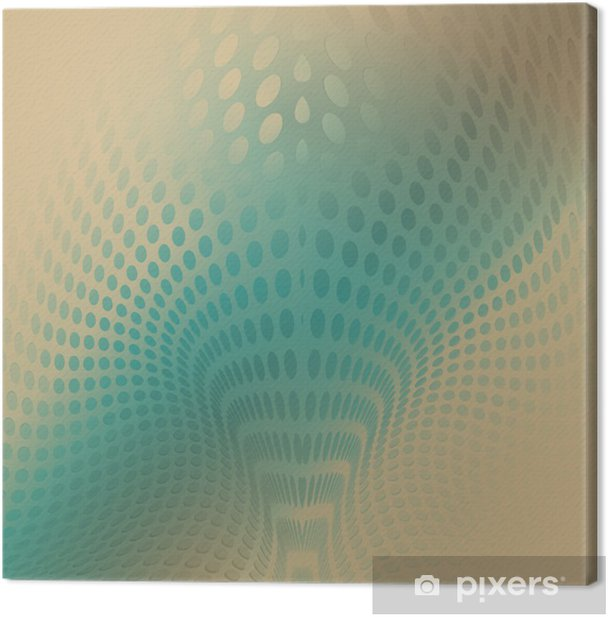 Obraz na płótnie Abstrakcyjne tło fala - Kropki