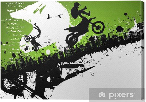 Obraz na płótnie Abstrakcyjne tło freestyle motocross - Sporty indywidualne