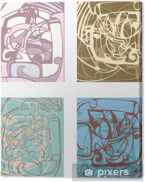 Obraz na płótnie Abstrakcyjne tło na podstawie stylizowanych formach. - Życie