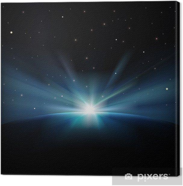 Obraz na płótnie Abstrakcyjne tło przestrzeni z gwiazdami - Tematy