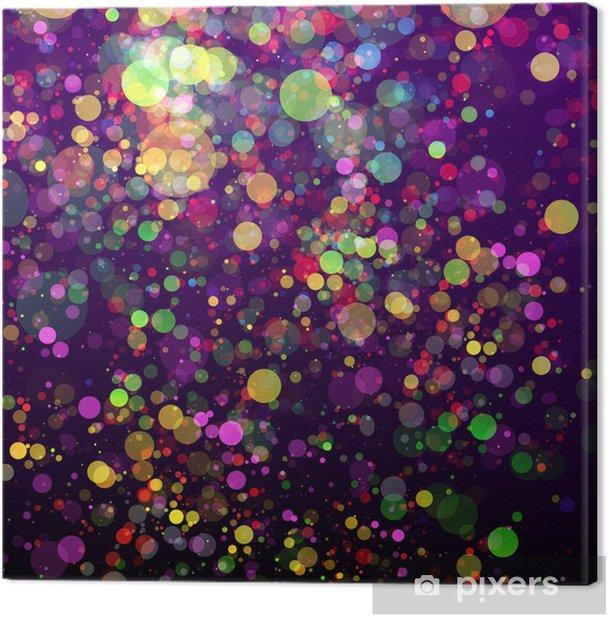 Obraz na płótnie Abstrakcyjne tło uroczystości kolorowe jasne światła - Kartki z życzeniami
