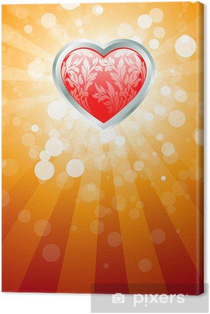 Obraz na płótnie Abstrakcyjne Tło Valentines Day - Święta międzynarodowe